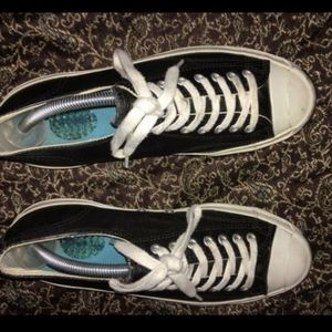 BLACK LEATHER CONVERSE (JACK PURCELL) EDITION::9.5